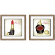 Couture Belle Set of 2 Framed Wall Art