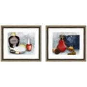 High-End Toiletries Set of 2 Framed Wall Art
