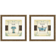 Soak and Scrub Set of 2 Framed Wall Art