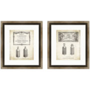 Eau de Cologne Set of 2 Framed Wall Art