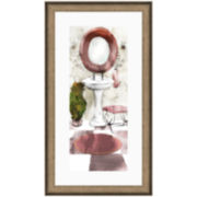 Watercolor Bath I Framed Wall Art