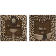 Safari Bath 2-pc. Wall Decor Set