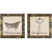 French Bath 2-pc. Wall Decor Set