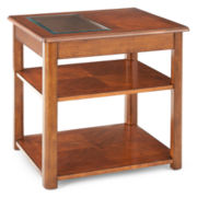 "Madden Glass Top Square 22"" End Table"