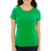 St. John's Bay® Essential Relaxed Fit Short-Sleeve Crewneck Tee