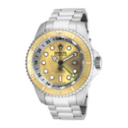 Invicta® Reserve Hydromax Mens Gold-Tone Dial Stainless Steel GMT Sport Watch 16962
