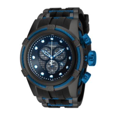 jcpenney.com | Invicta® Reserve Bolt Zeus Mens Black Stainless Steel Chronograph Sport Watch 19485