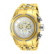 Invicta® Bolt Mens Gold-Tone Stainless Steel Chronograph Watch 12757