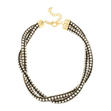 jcpenney.com | Bleu™ Crystal Two-Row Twisted Collar Necklace
