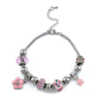 jcpenney.com | Dazzling Designs™ Silver-Plated Flower Bracelet