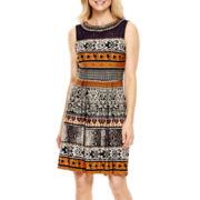 Studio 1® Sleeveless Embellished Fit-and-Flare Dress