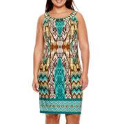 Studio 1® Sleeveless Beaded Sheath Dress - Plus