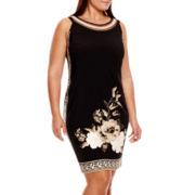 Studio 1® Sleeveless Ribbon Neck Sheath Dress - Plus