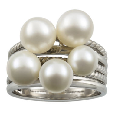 jcpenney.com | Cultured Freshwater Pearl Stacked-Look Sterling Silver Ring