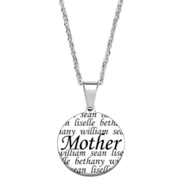 jcpenney.com | Personalized Stainless Steel Mother Circle Pendant Necklace