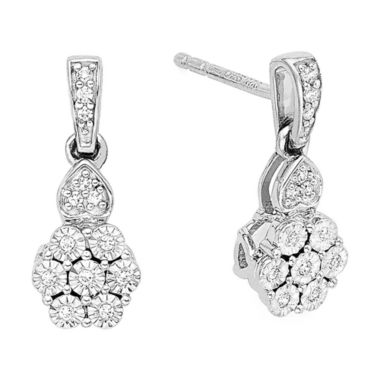 jcpenney.com | diamond blossom 1/10 CT. T.W. Diamond Earrings