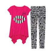 Total Girl® Graphic Tunic and Printed Leggings - Girls 7-16