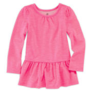 Okie Dokie® Peplum Tee - Toddler Girls 2t-5t