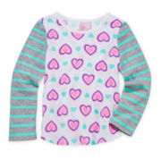 Okie Dokie® Mixed-Print Tee - Toddler Girls 2t-5t
