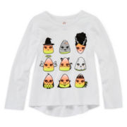 Okie Dokie® Halloween Graphic Tee - Toddler Girls 2t-5t
