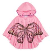 Side of Fries Hooded Butterfly Poncho - Girls 7-16