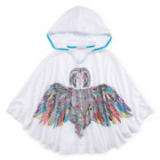 Side of Fries Hooded Owl Poncho - Girls 7-16