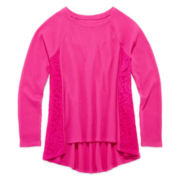 Arizona Lace-Inset Thermal Tee - Girls 7-16 and Plus