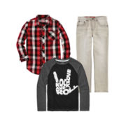 Arizona Woven Shirt, Graphic Tee or Straight Jeans - Boys 8-20