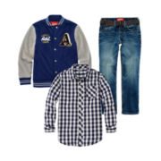 Arizona Long Sleeve Shirt, Varsity Jacket, or Belted Jeans - Boys 8-20