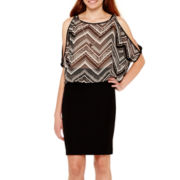by&by Chiffon Cold-Shoulder Necklace Top or Millenium Skirt