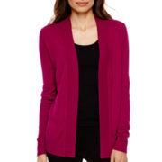 Worthington® Long-Sleeve Open Cardigan Sweater - Tall