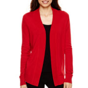 Worthington® Long-Sleeve Open-Front Cardigan - Tall
