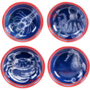 Certified International Pier 45 Set of 4 Pasta Bowls