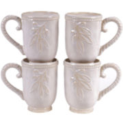 Certified International Bianca Set of 4 Mugs