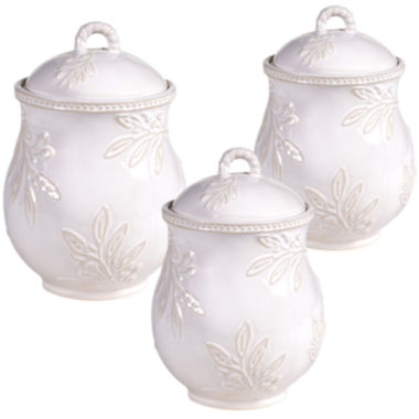 jcpenney.com | Certified International Bianca 3-pc. Canister Set