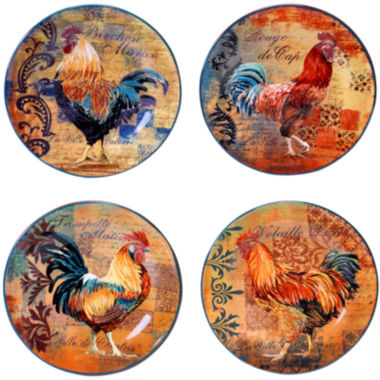 jcpenney.com | Certified International Rustic Rooster Set of 4 Dessert Plates
