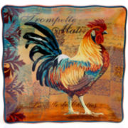 Certified International Rustic Rooster Square Platter