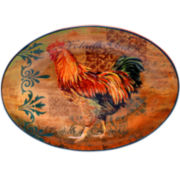 Certified International Rustic Rooster Oval Platter
