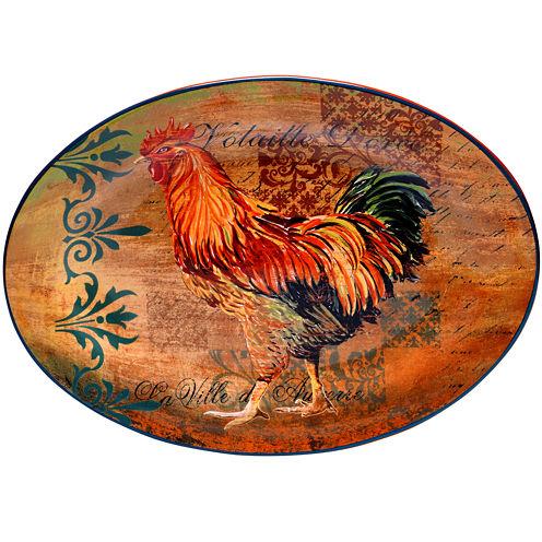 Certified International Rustic Rooster Oval Platter