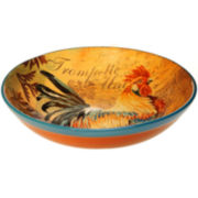 Certified International Rustic Rooster Pasta Serving Bowl