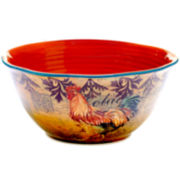 Certified International Rustic Rooster Pasta Deep Serving Bowl