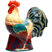 Certified International Rustic Rooster Cookie Jar