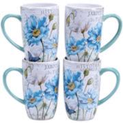 Certified International Tuileries Garden Set of 4 Mugs