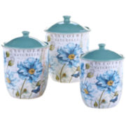 Certified International Tuileries Garden 3-pc. Canister Set