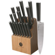 Ginsu® Chikara Series 19-pc. Stainless Steel Forged Knife Set