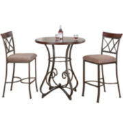 Glenside 3-pc. Pub Set with Barstools