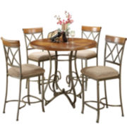 Glenside 5-pc. Gathering Table Set with Counter-Height Barstools