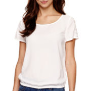 a.n.a® Short-Sleeve Embellished T-Shirt
