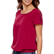 a.n.a® Short-Sleeve Embellished T-Shirt - Petite