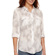 a.n.a® 3/4-Sleeve Flap-Pocket Shirt